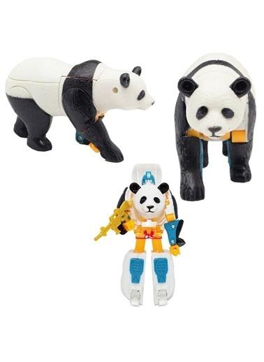Mega Robota Dönüşen Panda Oyuncak Vahşi Hayvan Figürü Renkli
